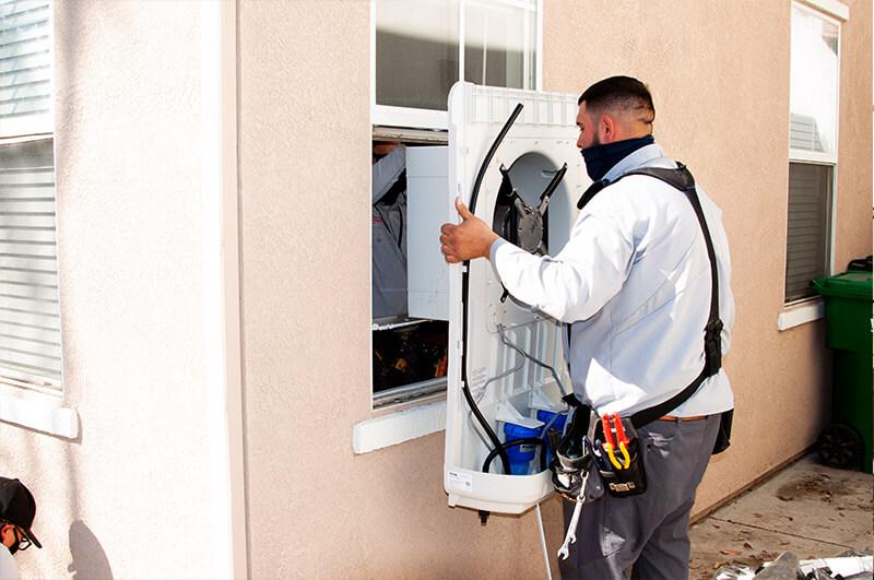 HVAC Window Air Conditioner Installation