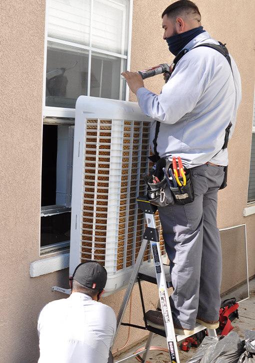 Window Air Conditioner Unit Installation