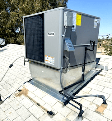 New AC Unit Installation on Rooftop
